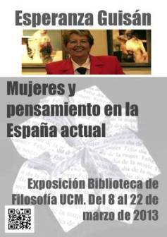 """""""Mujeres y pensamiento en la España actual"""". Esperanza Guisán"""