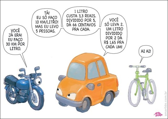 Gasolina Aumento moto leva 2 x carro leva 5 B
