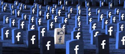 Facebook, o maior cemitério do mundo.