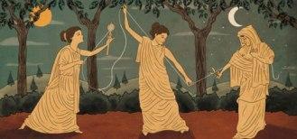 Moiras (grego). Parcas (latim)