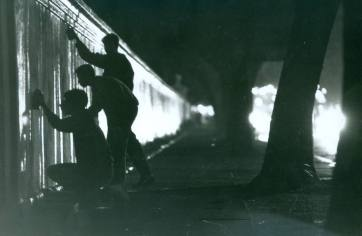 Pichadores em São Paulo.